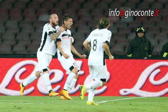 Napoli-Palermo - esultanza di Bellotto dopo il gol