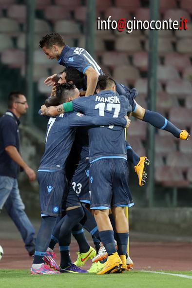 Napoli-Palermo - esultanza dopo la prima rete di Koulibaly