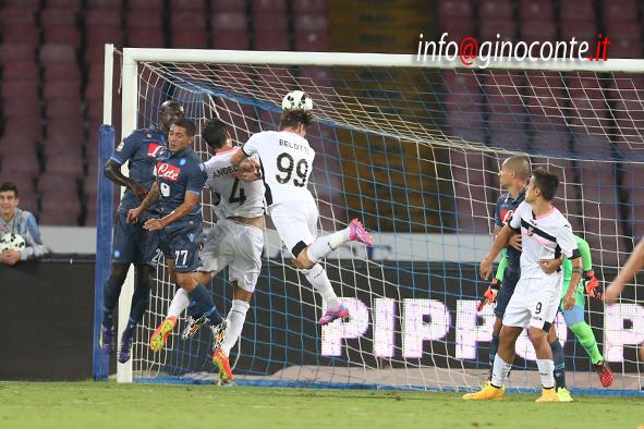 Napoli-Palermo - il gol di testa di Bellotto