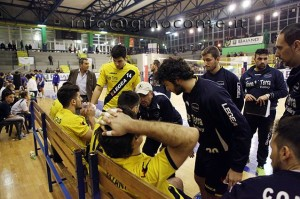 Un time out del Pozzuoli Volley