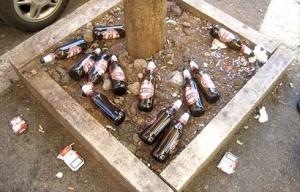 Bottiglie abbandonate