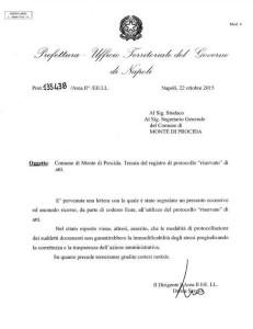 Lettera Prefetto a Sindaco di MdP