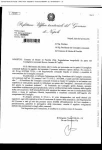 Monte di Procida - documento prefetto
