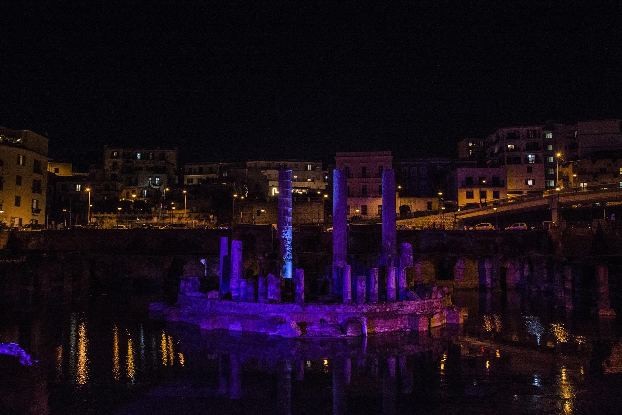 8 marzo, il Macellum puteolano stasera illuminato di rosa