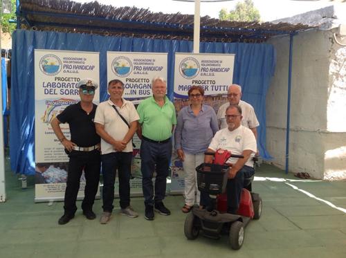 """Bacoli, il commissario Tarricone all'inaugurazione di """"Un mare per tutti"""""""