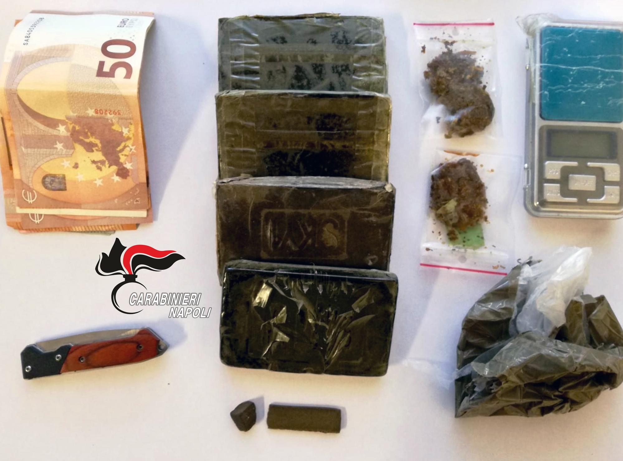 Monte di Procida, un arresto e una denuncia per droga