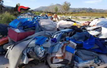 Pozzuoli, scoperto dal Noe un'area di rifiuti speciali in via Campana