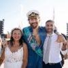 La bacolese Cristina e il puteolano Agostino, uniti in matrimonio da Jovanotti sabato scorso|FOTO