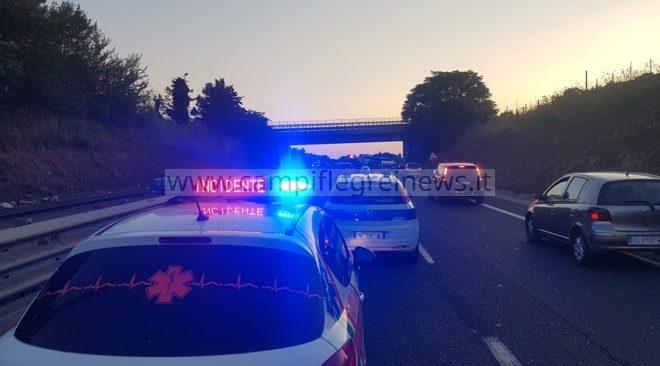 LICOLA/ Pauroso incidente in via San Nullo, traffico e caos anche sulla Statale Quater Domitiana