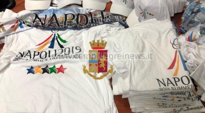 BAGNOLI/ Vendevano magliette e cappelli falsi dell'Universiade, denunciate 2 persone