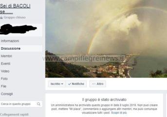 """IL CASO/ Archiviato il gruppo """"Sei di Bacoli se.."""": lesa la libertà di pensiero e delle idee"""