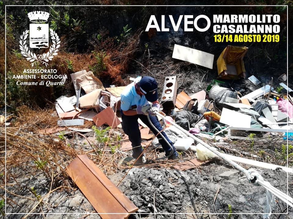 QUARTO/ Sversa rifiuti speciali nell'Alveo tra via Casalanno e via Marmolito: denunciato dalla Municipale