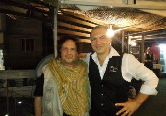 POZZUOLI/ Enzo Avitabile a cena ieri sera nel ristorante dei fratelli Cavaliere