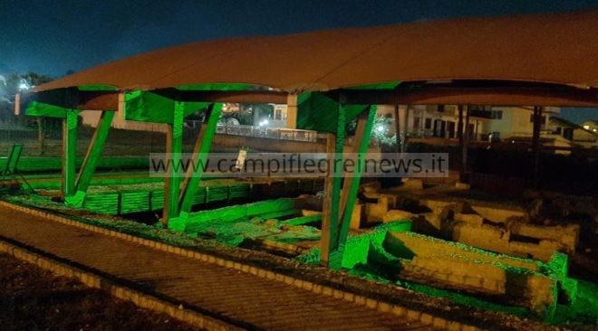 I monumenti di Quarto s'illuminano di verde per la giornata nazionale sulla Sla