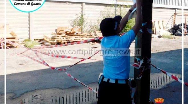 QUARTO/ Discarica abusiva di rifiuti, pronti per essere bruciati, sequestrata dalla Municipale|FOTO