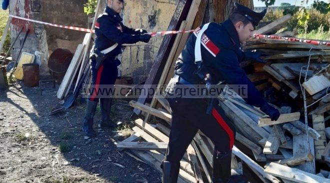LAGO PATRIA/ Incendia legno tossico, arrestato un quarantenne dai carabinieri