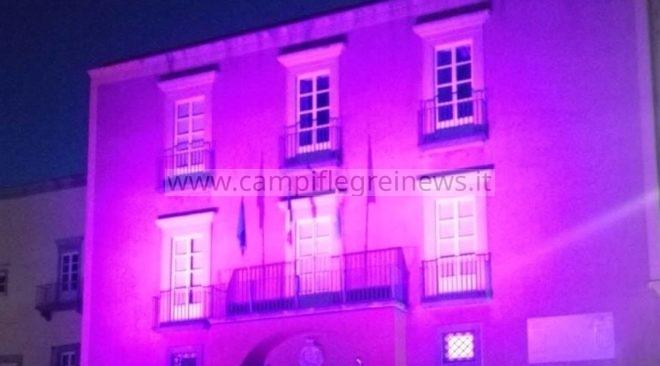 POZZUOLI/ Palazzo Migliaresi si colora di rosa per la campagna di prevenzione ai tumori del seno