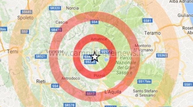 ULTIMORA/ Terremoto tra Frosinone e L'Aquila avvertito anche nei Campi Flegrei: magnitudo 4.4 scala Ritcher